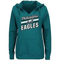 Plus Size Majestic Philadelphia Eagles Notched Hoodie