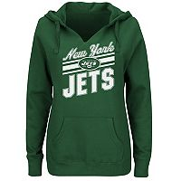 Plus Size Majestic New York Jets Notched Hoodie
