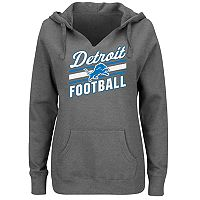 Plus Size Majestic Detroit Lions Notched Hoodie