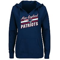 Plus Size Majestic New England Patriots Notched Hoodie