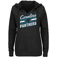 Plus Size Majestic Carolina Panthers Notched Hoodie