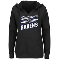 Plus Size Majestic Baltimore Ravens Notched Hoodie