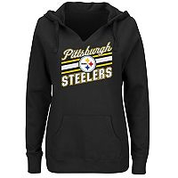 Plus Size Majestic Pittsburgh Steelers Notched Hoodie