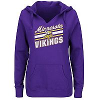 Plus Size Majestic Minnesota Vikings Notched Hoodie