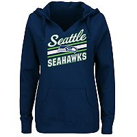 Plus Size Majestic Seattle Seahawks Notched Hoodie