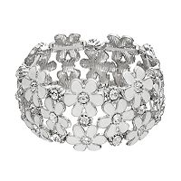 White Flower Stretch Bracelet