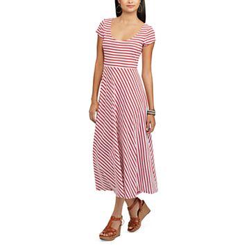 Women's Chaps Striped Midi Dress