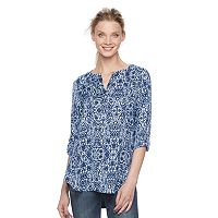 Women's Rock & Republic® Print Mix-Media Top