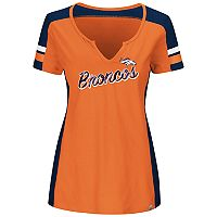 Plus Size Majestic Denver Broncos Notched Tee