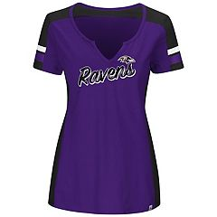 Plus Size Majestic Baltimore Ravens Notched Tee