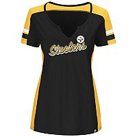 Plus Size Majestic Pittsburgh Steelers Notched Tee