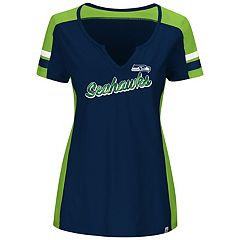 Plus Size Majestic Seattle Seahawks Notched Tee