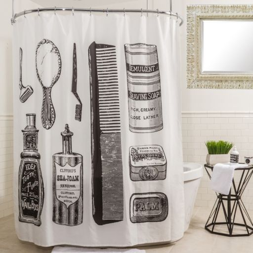 Splash Home Vanity Shower Curtain
