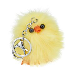 Yellow Chick Pom Pom Key Chain