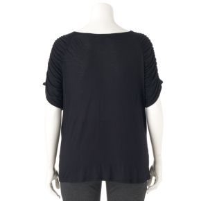 Plus Size Jennifer Lopez Ruched Crossover Top