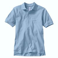 Boys 4-20 Chaps Solid Pique School Uniform Polo
