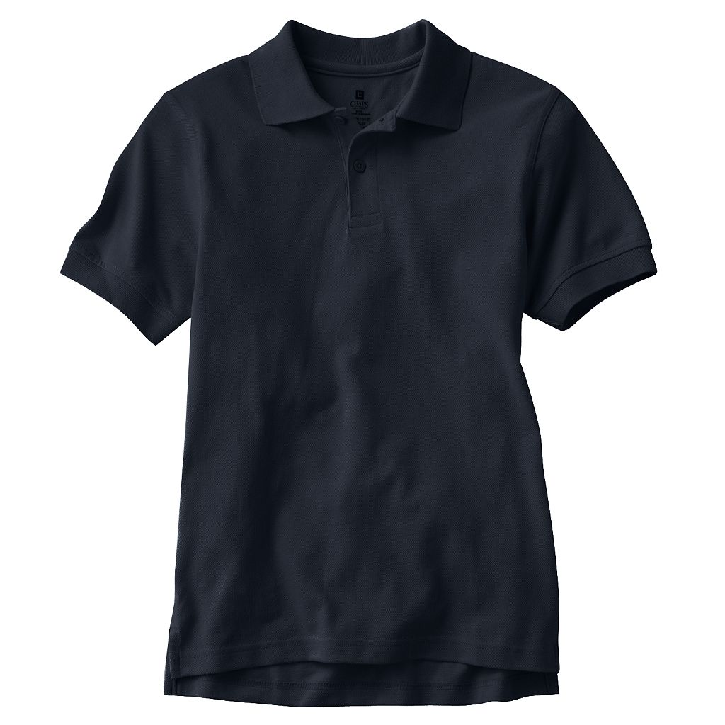 Boys 8-20 Husky Chaps Solid Pique School Uniform Polo