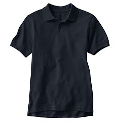 Boys 8-20 Husky Chaps Solid Pique School Uniform Polo