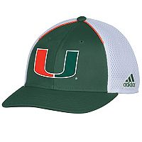 Adult adidas Miami Hurricanes Spring Game Adjustable Cap