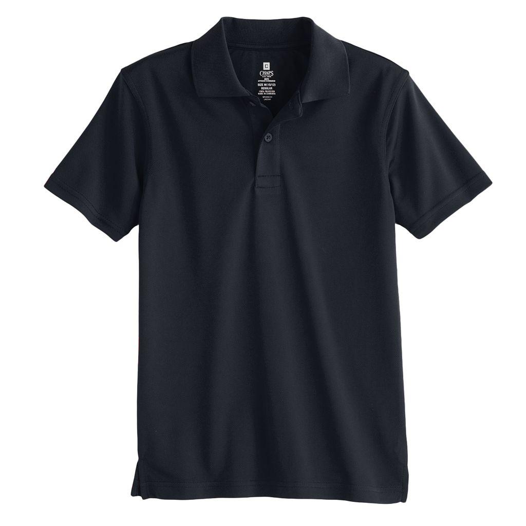 Boys 4-20 Chaps School Uniform Solid Performance Polo