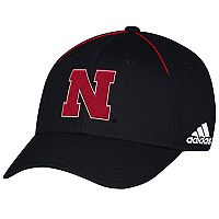 Adult adidas Nebraska Cornhuskers Coach Flex-Fit Cap