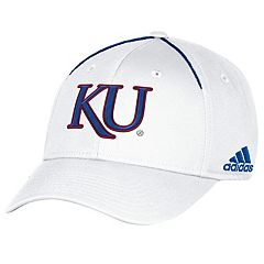 Adult adidas Kansas Jayhawks Coach Flex-Fit Cap