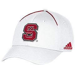Adult adidas North Carolina State Wolfpack Coach Flex-Fit Cap