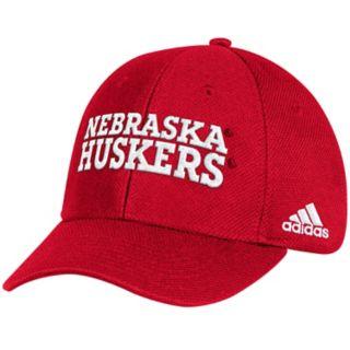 Adult adidas Nebraska Cornhuskers Structured Adjustable Cap