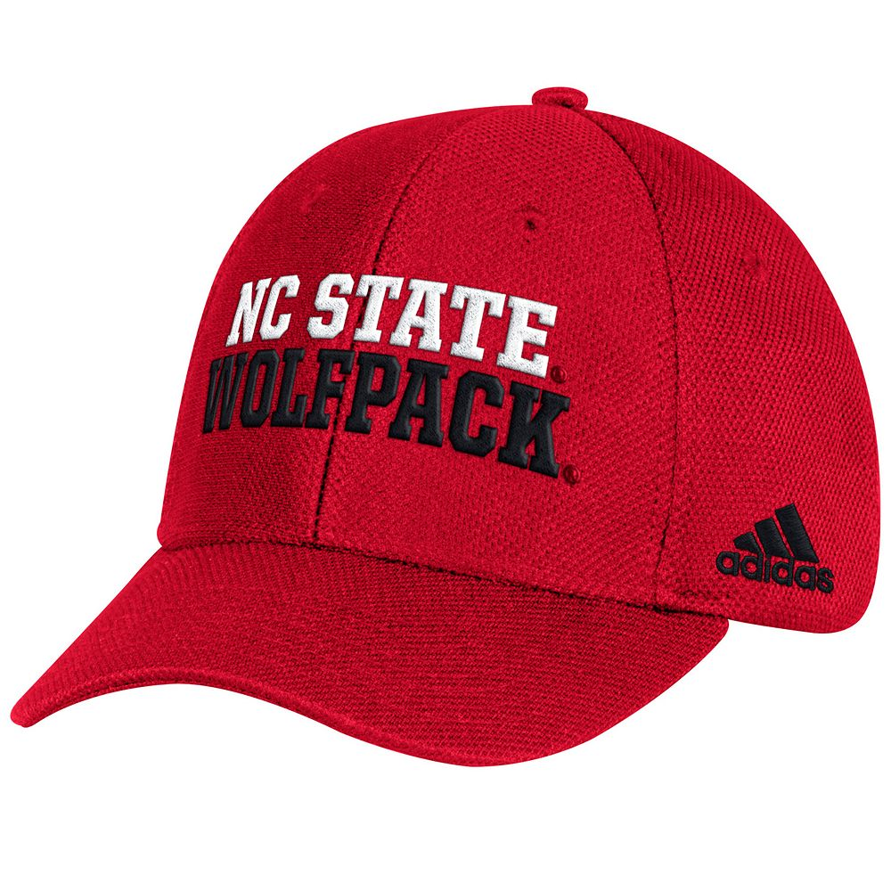 d40b8c5d Adult adidas North Carolina State Wolfpack Structured Adjustable Cap