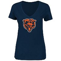 Plus Size Majestic Chicago Bears Logo Tee
