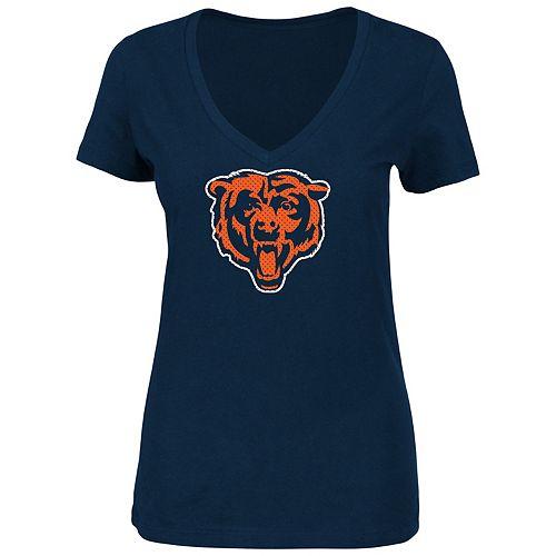 Plus Size Majestic Chicago Bears Logo Tee
