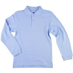 Boys 8-20 Chaps Solid Pique School Uniform Polo