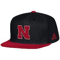 Adult adidas Nebraska Cornhuskers Player Snapback Cap