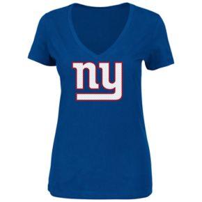 Plus Size Majestic New York Giants Logo Tee