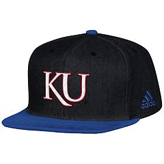 Adult adidas Kansas Jayhawks Player Snapback Cap