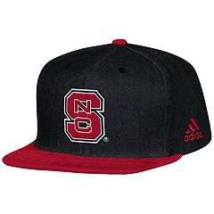 Adult adidas North Carolina State Wolfpack Player Snapback Cap