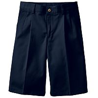 Boys 8-20 Chaps School Uniform Pleated-Front Twill Shorts