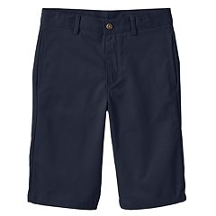 Boys 8-20 Husky Chaps Flat-Front Twill Shorts