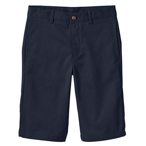 Boys 8-20 Husky Chaps Flat-Front Twill Shorts