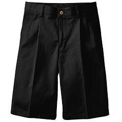 Boys 4-20 Chaps School Uniorm Pleated Twill Shorts