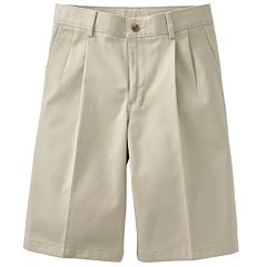 Boys 4-20 & Husky Chaps School Uniorm Pleated Twill Shorts