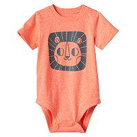 Baby Boy Jumping Beans® Heathered Animals Bodysuit