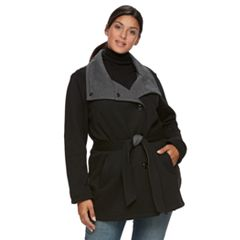 Plus Size Sebby Collection Fleece Jacket