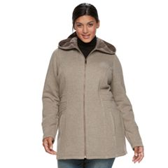 Plus Size Sebby Collection Long Fleece Jacket