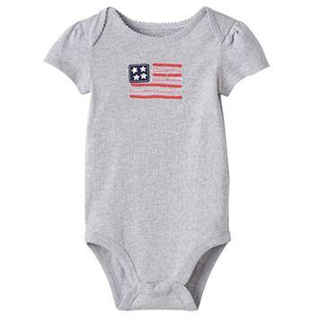 Baby Girl Jumping Beans® American Flag Bodysuit