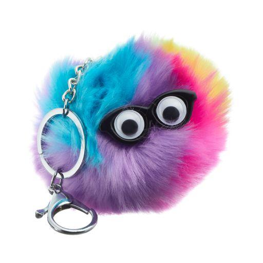 Googly Eyes Rainbow Pom Pom Key Chain
