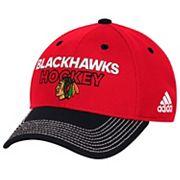 Adult adidas Chicago Blackhawks Locker Room Flex-Fit Cap