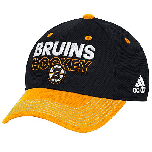 Adult adidas Boston Bruins Locker Room Flex-Fit Cap