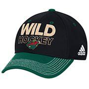 Adult adidas Minnesota Wild Locker Room Flex-Fit Cap
