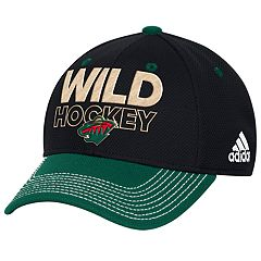 Adult adidas Minnesota Wild Locker Room Flex-Fit Cap